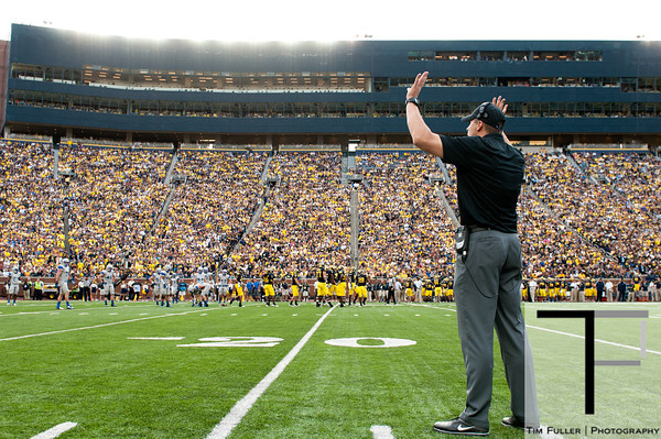 Sep 8, 2012; Ann Arbor, MI, USA; Air Force Falcons coach assistant head  Steve Russ during the second half against the Michigan Wolverines at Michigan Stadium. Mandatory Credit: Tim Fuller-Air Force Academy Athletics